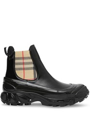Burberry Vintage Check Detail Coated Canvas Chelsea Boots 60