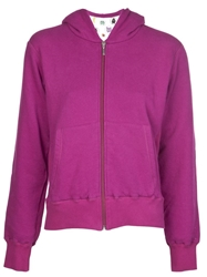 Lucien Pellat Finet Animal Print Zip Hoodie Pink And Purple