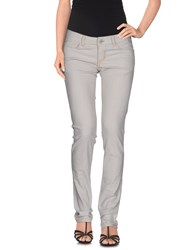 Amy Gee Denim Denim Trousers Women Light Grey