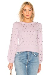 Milly Pearl Sweater Lavender