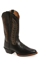 Ariat Men's 'Drifter' Cowboy Boot Limousin Black Leather