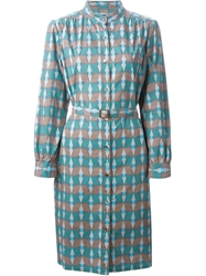 A.P.C. Geometric Print Shirt Dress