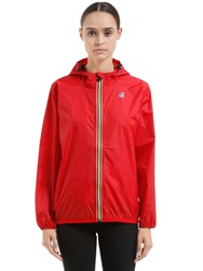 K Way Le Vrai 3.0 Claudette Nylon Jacket Red