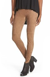 Lysse Women's High Waist Faux Suede Leggings Latte
