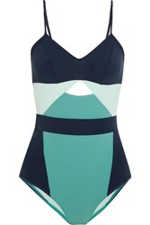 Flagpole Joellen Cutout Color Block Swimsuit Teal