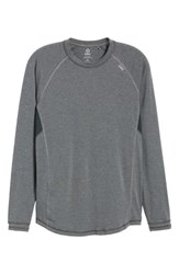 Tasc Performance Charge Ii Long Sleeve Shirt Black Heather