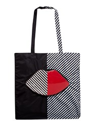 Lulu Guinness 50 50 Lip Foldaway Tote Bag Multi Coloured Multi Coloured