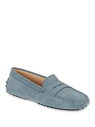 Tod's Gommini Leather Moccasins Light Blue