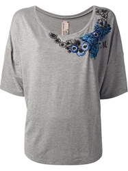 Antonio Marras Embroidered T Shirt Grey