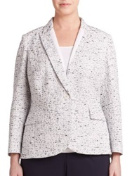 Lafayette 148 New York Plus Size Speckled Tailored Blazer Riviera Multi