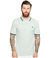 Fred Perry Twin Tipped Shirt Mint Midnight Blue Black Men's Short Sleeve Knit Green