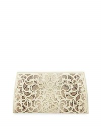 Nancy Gonzalez Laser Cut Scroll Slicer Clutch Bag