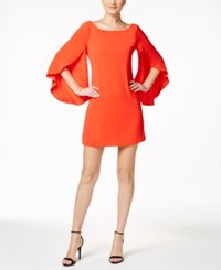 Jessica Simpson Bow Back Flutter Sleeve Dress Hot Coral