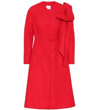 Delpozo Wool And Cashmere Coat Red