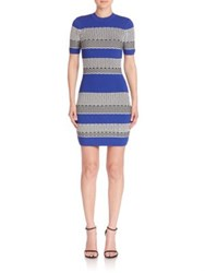 Kendall Kylie Multi Stripe Bodycon Dress Multicolor