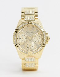 Guess Lady Fronter Bracelet Watch In Gold