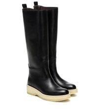 The Row Motorbike Leather Boots Black