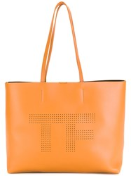 Tom Ford Perforated Logo Tote Bag Nude Neutrals