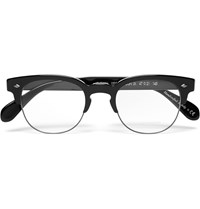 Oliver Peoples Hendon D Frame Acetate And Metal Optical Glasses Black