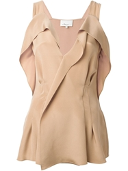 3.1 Phillip Lim Draped Wrap Blouse Pink And Purple
