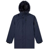 Kenzo Fur Hooded Winter Parka Blue