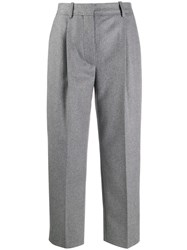 Acne Studios Tailored Cropped Trousers Grey