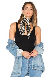 Marc Jacobs Leopard And Chains Scarf Black
