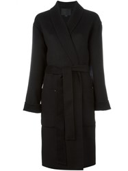 Alexander Wang Belted Robe Coat Black