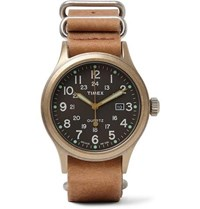 Timex Allied Stainless Steel And Stonewashed Leather Watch Tan
