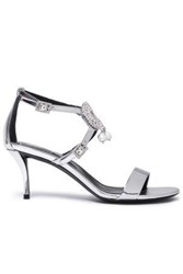 Roger Vivier Woman Embellished Metallic Mirrored Leather Sandals Silver