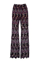 Self Portrait Lara High Waist Pants Floral