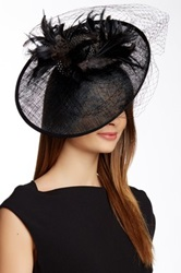 Something Special Hats Mixed Feather Trim Fascinator Black