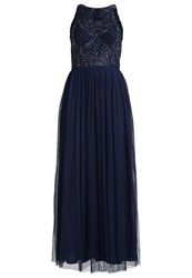 Lace And Beads Sunny Maxi Dress Navy Dark Blue