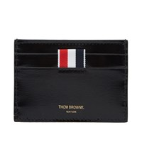 Thom Browne Printed Stripe Single Card Holder Black