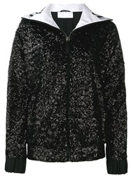 No Ka' Oi Sequined Track Jacket Black