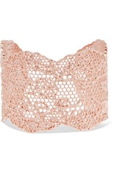 Aurelie Bidermann Lace Rose Gold Plated Cuff One Size