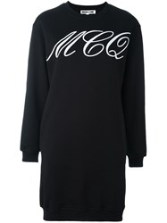 Mcq By Alexander Mcqueen Tattoo Print Sweatshirt Dress Black