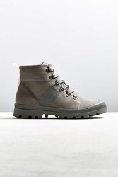 Urban Outfitters Uo Justin Canvas Lace Up Boot Grey