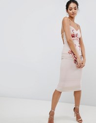 Hope And Ivy Embroidered Cami Dress Cream