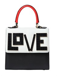Les Petits Joueurs Mini Alex Love Leather Top Handle Bag