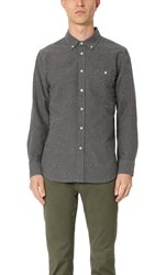 Obey Hadley Woven Shirt Heather Charcoal