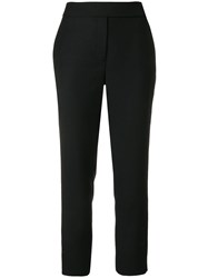 Osman Tailored Cropped Trousers Black