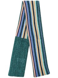Missoni Lurex Stripe Scarf Green