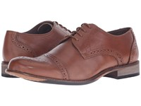 Lotus Hargreaves Burnished Tan Leather Men's Lace Up Wing Tip Shoes Brown