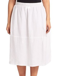 Eileen Fisher Plus Size Linen Oval Skirt White