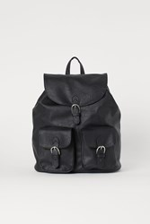 Handm H M Faux Leather Backpack Black