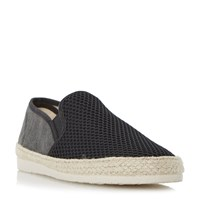 Dune Finchley Mesh And Canvas Espadrilles Black