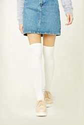 Forever 21 Ribbed Knit Knee High Socks