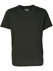 R 13 R13 Distressed T Shirt Cotton M Black