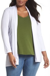 Vince Camuto Plus Size Open Front Cardigan Ultra White